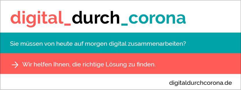 Banner Digital durch Corona